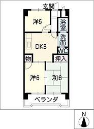 長良SANWAマンション[2階]の間取り