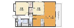 ピークマンション2[103号室]の間取り