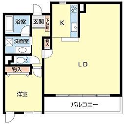 新潟県新潟市中央区南横堀町の賃貸マンションの間取り