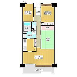 デュオプラザ川口壱番館[4階]の間取り