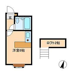 千葉県松戸市小金原8の賃貸アパートの間取り