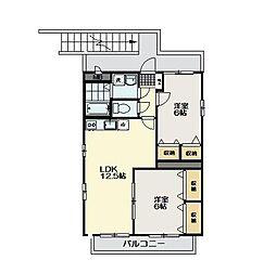 シェリールB棟[2階]の間取り