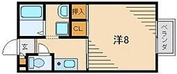 サンモールD棟[2階]の間取り