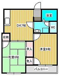 ダイサンコーポ[2階]の間取り