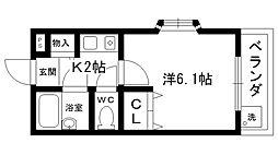 ステラハウス4−400[410号室]の間取り