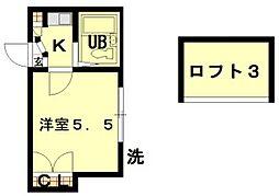 新富稲毛第1[1階]の間取り