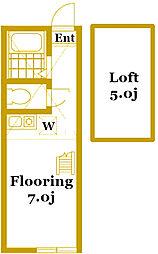 ユナイト東白楽ラ・フロリディータ[2階]の間取り