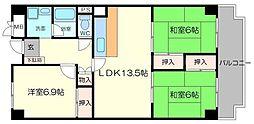 日興千里台スカイタウン E号棟 11階3LDKの間取り
