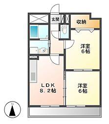 愛知県名古屋市港区当知3の賃貸マンションの間取り