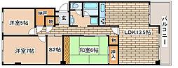 兵庫県神戸市中央区港島中町3丁目の賃貸マンションの間取り