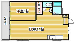 松栄スカイコーポ[1階]の間取り