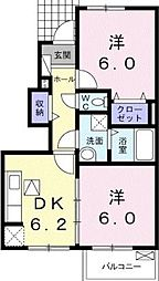 サンガーデン和泉 壱番館[1階号室]の間取り