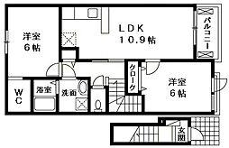 セゾンフルール[2階]の間取り