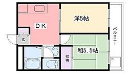 第二西田ビル[302号室]の間取り
