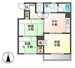 竹田ビル[2階]の間取り