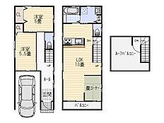木造プラン(建物面積85m2(ガレージ含む)、建物価格1500万円)