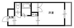 吉田5丁目 エーデルハイム東花園[310号室]の間取り