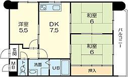 ロイヤルコーポ野田[703号室]の間取り