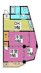 埼玉県川口市芝新町の賃貸マンションの間取り