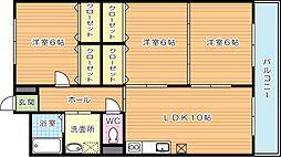 リシェス有田[2階]の間取り