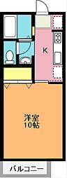 埼玉県上尾市春日1丁目の賃貸アパートの間取り
