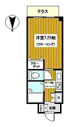 神奈川県横浜市鶴見区東寺尾東台の賃貸マンションの間取り