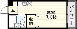 大阪府大阪市生野区小路2丁目の賃貸マンションの間取り