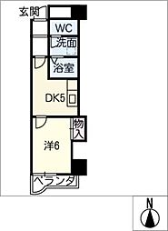 Ksquareサウス[6階]の間取り