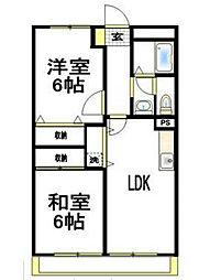 神奈川県横浜市保土ケ谷区桜ケ丘1丁目の賃貸マンションの間取り