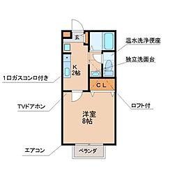 ヴェルメゾンA棟[1階]の間取り