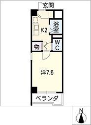ウィステリア辰巳[2階]の間取り