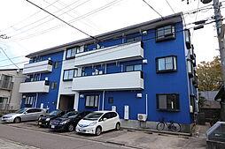 新潟県新潟市中央区旭町通の賃貸アパートの外観