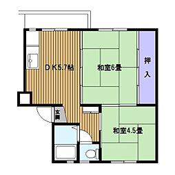 浦賀[3F号室]の間取り