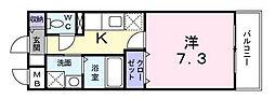 東京都北区中十条1丁目の賃貸マンションの間取り