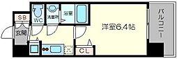 アドバンス新大阪ウエストゲート2 6階1Kの間取り