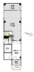 神奈川県横浜市鶴見区本町通3丁目の賃貸マンションの間取り