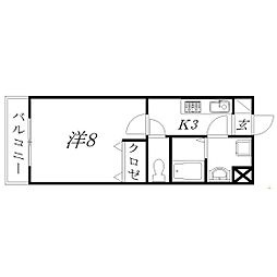 静岡県浜松市中区菅原町の賃貸マンションの間取り