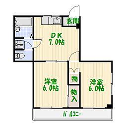 ホワイトコート綾瀬[1階]の間取り