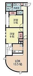 埼玉県さいたま市浦和区岸町5丁目の賃貸マンションの間取り