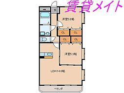 ピュアタウンII[1階]の間取り