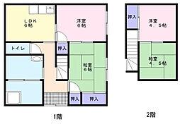 [一戸建] 福岡県久留米市荒木町白口 の賃貸【福岡県 / 久留米市】の間取り