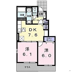 福岡県福岡市早良区内野1丁目の賃貸アパートの間取り