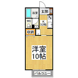 リビングタウン広丘 A棟[2階]の間取り
