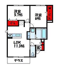 フロレスタ[1階]の間取り
