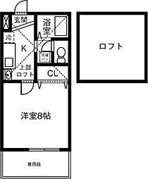 メゾン ソレイユ[108号室]の間取り