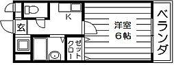 エスポワール吉川 水走2 吉田4分[3階]の間取り