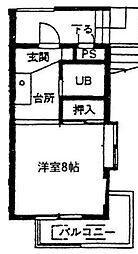 神奈川県相模原市緑区橋本5丁目の賃貸マンションの間取り