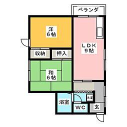 桜井マンション[4階]の間取り