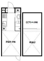 (仮称)中延共同住宅[E号室]の間取り