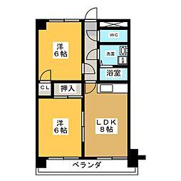 ベアーズマンション[3階]の間取り